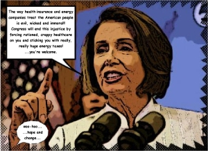 Pelosi Spews Alot