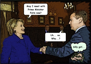 Hillary and Medvedev